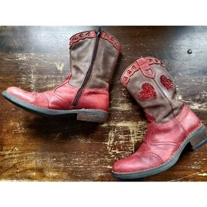 Lelli Kelly all leather Western Boots Cowgirl 34